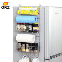 ORZ Refrigerator Rack Side Shelf Sidewall Holder Multipurpose Spice Space Crack Storage Estante Fridge Kitchen Organizer Holder(China)