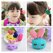 FJ035 Wholesale children cute hair clips hand making lovely cartoon rabbit hair loops barrettes accessory jewel 30pcs/lot(China)