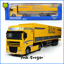 Mr.Froger Tent Platform Transporter alloy car model Refined metal Engineering Construction vehicles truck Decoration Classic Toy