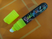 Colorful NEW 10mm Highlighter Fluorescent Wet Liquid Chalk Neon Marker Pen yellow 1PCS