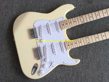 Custom Double neck Guitar Milk yellow /white 12 strings AND 6 strings Guitars Electric Guitar China guitar Factory Free shipping