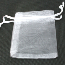 9x12cm 10pcs/lot White Organza Pouches Wedding Jewelry Packaging Pouches Nice Gift Bags