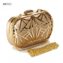 2017 luxury flash ladies ladies bag hot hand evening bag new chain party wedding dinner bag free shipping