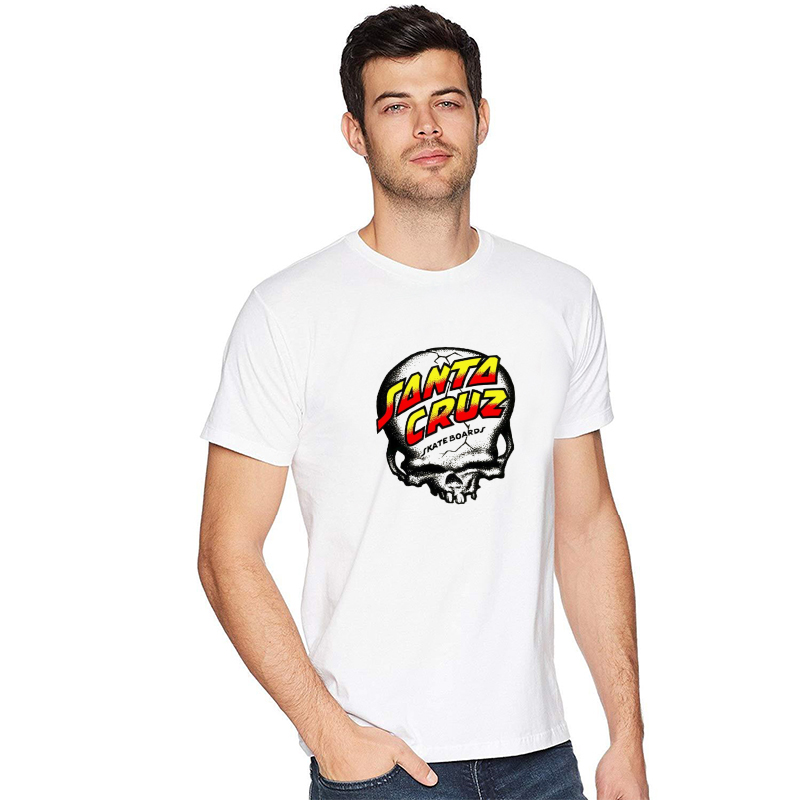 zebapand New OEM Skateboard Skate Santa Cruz T Shirt Men Loose milk silk Man Shirts Camiseta Mens Tee Clothing fast shipping 89