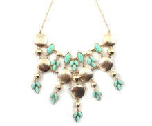 99CARATS Fashion Jewellery 2013 Newest Stylish Lotus petals Fringed Gold Color Alloy Pendent Necklace(China)