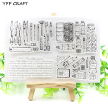 YPP CRAFT Drawing Tools Transparent Clear Silicone Stamp/Seal for DIY scrapbooking/photo album Decorative clear stamp(China)