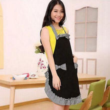New Women Kitchen BowKnot Apron Restaurant Cooking Dress Cute Lady Plaid Bib Hot Patchwork Girl Aprons