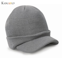 2017 Autumn Fashion Men Knitted Winter Cap Peaked Army Beanie Hat Warm Wooly Winter Mens Ladies Cadet Ski Caps Gorros Hats Oc14