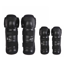 4pcs Kit Sports Adult Elbow Knee Shin Armor Gear Guard Pads Protector for Bike Motorcycle Motorbike Bike Racing Skating