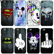 Yooyour Cute Cartoon Pattern Cover hard plastic Cover Case For Apple iphone 4 4s 5 5s  5c SE 6 6S 6PLUS 7 7PLUS