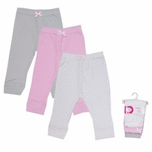 Hot 2017 Baby Leggings 100% Cotton 3 Pcs/lot Warm Pants for Babies Blue/Pink Stripped Print Infant Leggings Baby Boy Girl Pants