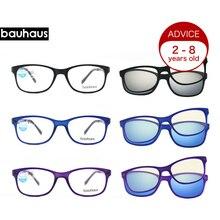 Quadrado crianças óculos de olho crianças óculos de óculos meninos meninas  miopia óculos de sol anti blue-ray óculos clipe 1336d566ca