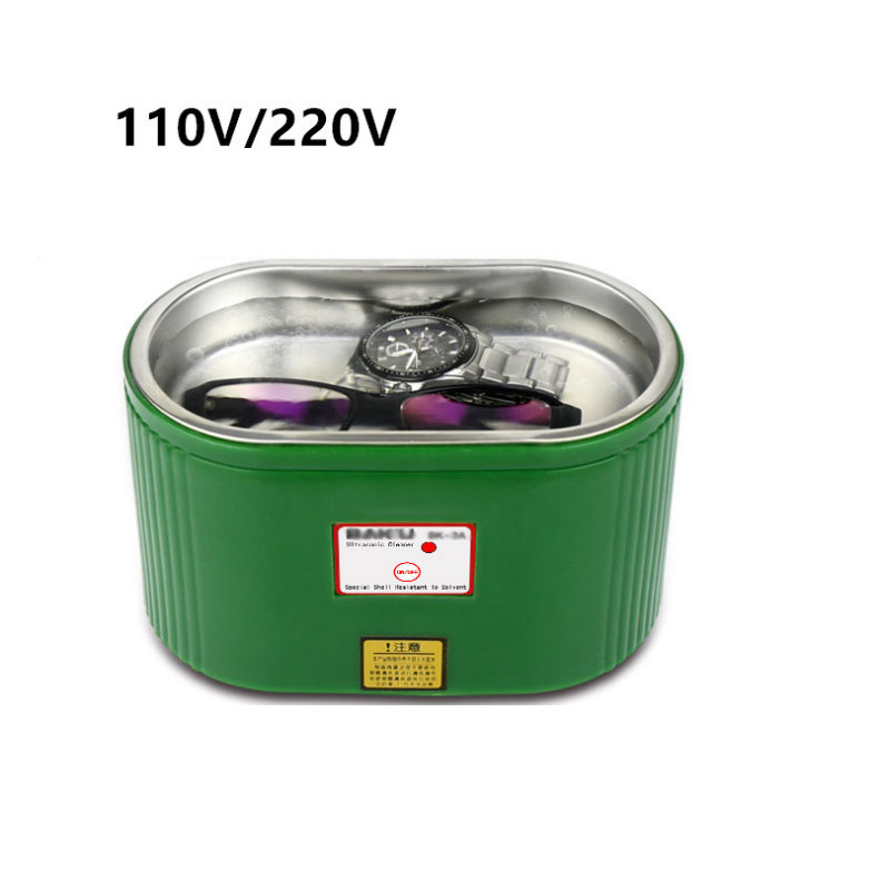 30W 220V/110V Mini Ultrasonic Cleaner Bath For Cleanning Jewelry Watch Glasses Circuit Board limpiador ultrasonico<br>