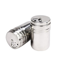 1pcs Spice Sugar Salt Pepper Herb Shaker Jar Toothpick Storage Stainless Steel -46(China)
