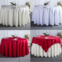 1PC Curl Grass Pattern Solid Round Tablecloth For Wedding Party Rectangular Dining Table Cloth For Hotel Home Decor Table Cover(China)
