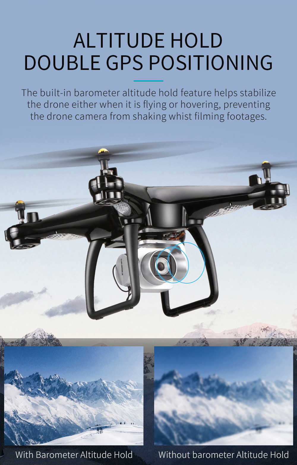 JJRC H68G GPS Drone With Camera 1080P HD 5G Wifi FPV Quadrocopter RC Helicopter Professional Dron Compass Auto Follow Quadcopter 8