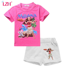 LZH Toddler Girls Clothing Sets 2017 Summer Kids Girls Clothes Set Moana Clothes T-shirt+Pant Girls Sport Suit Children Clothing