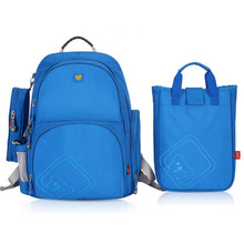 3 pcs  blue backpack for boy japanese school bag set lunch box bag cute pencil case  high quality waterproof fabric book bag