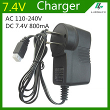 7.4V 800 mA Charger For 2S Lipo battery pack  charger For toy RC Toys  3P  7.4V balance Charger Plug AC 110-220V  DC 7.4v 800mA