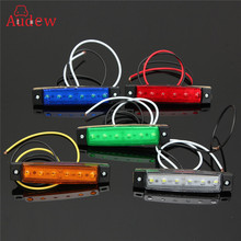 12/24V 6 LED Car Bus Truck Trailer Lorry Side Marker Lights Indicator Light Side Brake Signal Lamp Blinker Light 6 Colors