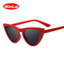 Winla 2018 Newest Sexy Cat Eye Sunglasses Women Brand Designer Lady Sun Glasses For Female Vintage Shades Eyewear Gafas UV400(China)