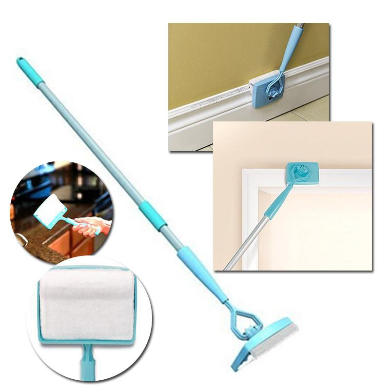 Home Cleaning Magic Broom Baseboard Buddy Simply Glide Extendable Cleaning Mop Tool Microfiber Dust Brush Trash Stick Vassoura(China (Mainland))