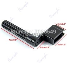 New Acoustic Electric Guitar String Winder Peg Bridge Pin Tool Plastic Black