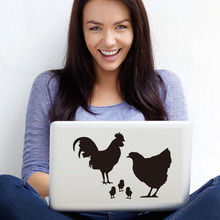 Chicken Family Computer Sticker Lovely Vinyl Laptop Decal Removable Adhesive Notebook Sticker Car Styling Wall Home Decor