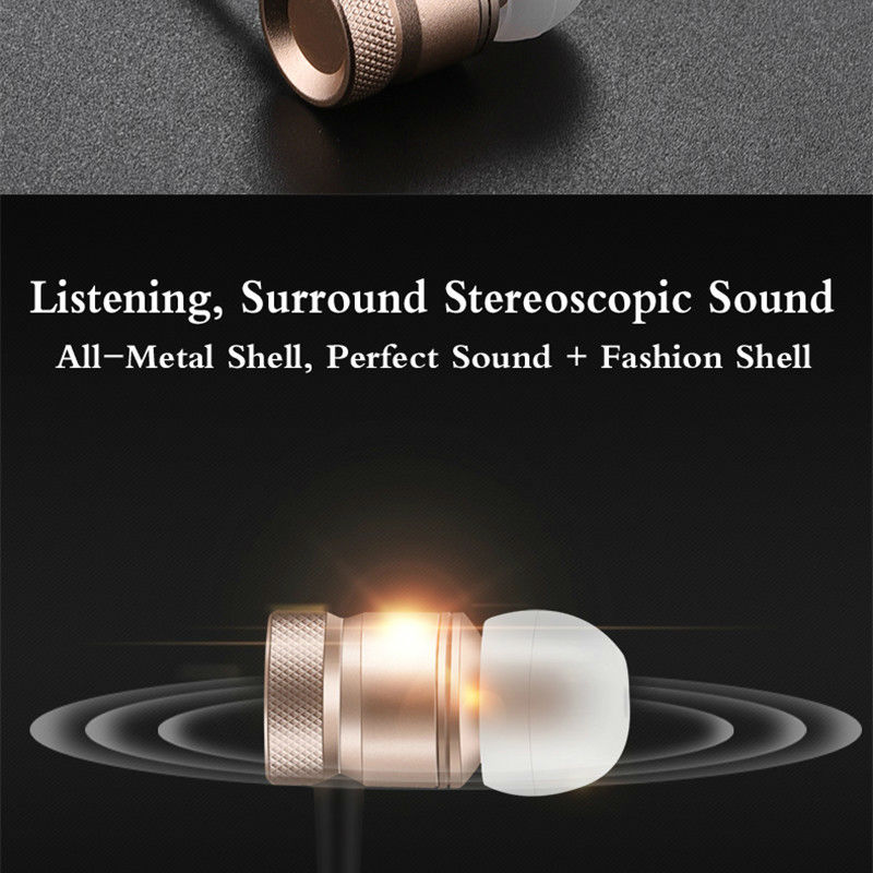 Original VERFANS J01 Matel Earphone Classic Earbuds Headset with Microphone for IOS Android