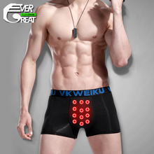 Quality boxers men Physiological underwear 24 hours magnetic massage Boxers health underwear for men 2pcs/lot JX410