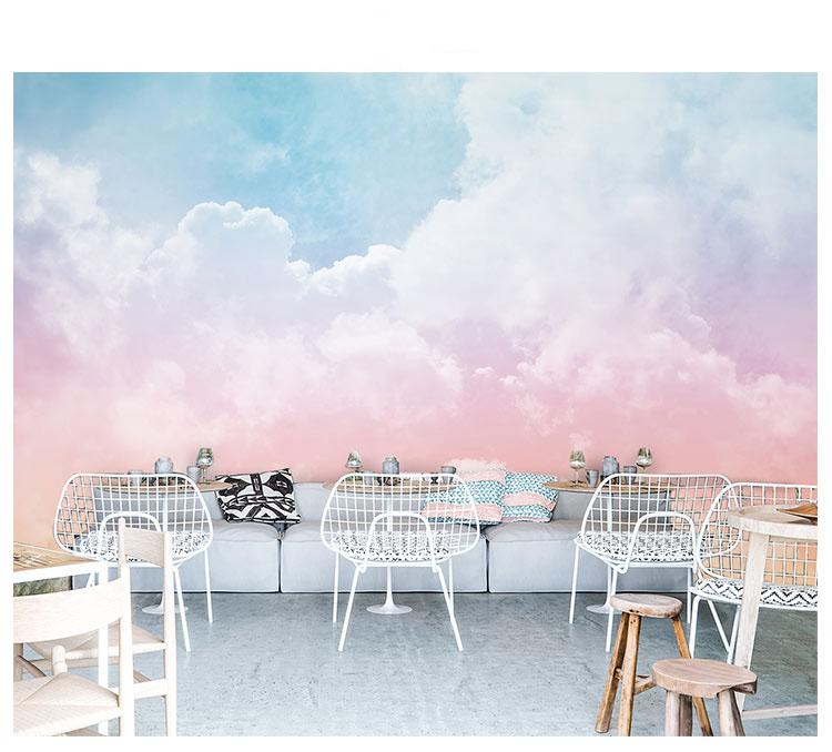 HTB18oi.qkKWBuNjy1zjq6AOypXar - Pink Sky Cloud 3d Cartoon Wallpaper Murals for Girls Room