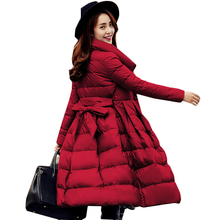 high quality Down long jacket Winter warm parka winter jacket women 95% White duck down outerwear Winter Coat Women Down Jacket(China)