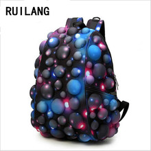 RUILANG New Trending Starry sky Unisex Backpack Designer 3D Bubble Shool Bag Casual Travel Shopping Backpack Men's Latop Package