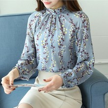 Buy S-2XL Womens Blouses Chiffon Shirts 2018 Elegant Autumn Winter Long Sleeve Female Blusas Office Ladies Tops Print Blouse Shirt for $10.85 in AliExpress store