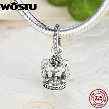 High Quality 925 Sterling Silver Noble Splendor Crown Charm Fit Original Pandora Bracelet Pendants Authentic Jewelry(China)