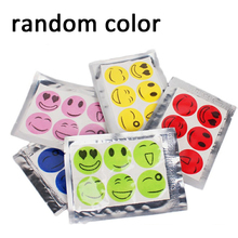 30pcs/5 Set Useful Mosquito Repellent Sticker Outdoor Travel Smiling Face Mosquito Sticker Insect Bug Repel Stickers for Camp