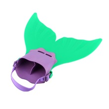 1Pc Kid Swimming Fins Green and Purple Color Adjustable Mermaid Monofin Flipper Wave Fins Training Shoes Diving Scuba Feet Tail