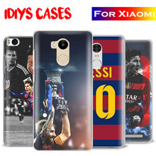 Lionel Messi 10 logo Coque Mobile Phone Case Shell Cover For Xiaomi Redmi Note 2 3 4 4x 5a Pro Mi4 Mi5 Mi5s Mi5x Mi6 Minote 3(China)