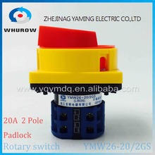 LW26GS-20/04-2 Cam Switch pad lock selector changeover switch Rotary switch(China)