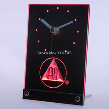 tnc0134 Alcoholics Anonymous AA Beer 3D LED Table Desk Clock(China)