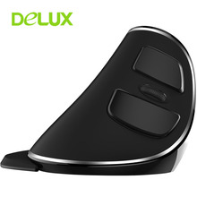 New Original Delux M618 PLUS Wireless Mouse Ergonomic Vertical Mouse USB Optical Adjustable 1600DPI Mice Computer Gaming Mause(China)