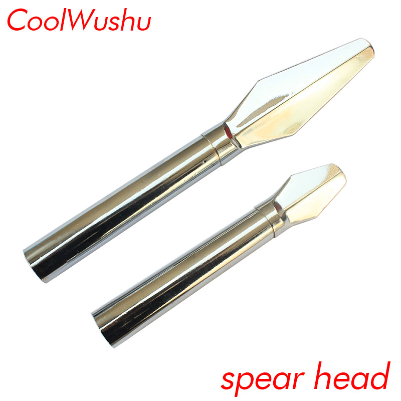 WuShu China Tai Ji Spear Perform Training Stainless Steel Spear Head Accessories