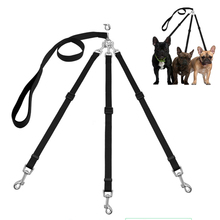 Three Way Pets Dog Leash Adjustable Triple Dog Leash for One/Two/Three Small Medium Dogs Cats Pet Supplies Leash(China)