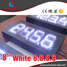 1 lot/5pcs 8 Inch 8.888 led price sign led gas price signs digital gas station led price display used for gas station(China)