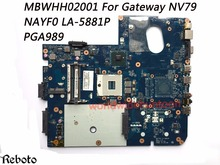 Superior Quality Motherboard For Gateway NV79 Motherboard MBWHH02001 NAYF0 LA-5881P PGA989  DDR3 100% Fully Tested