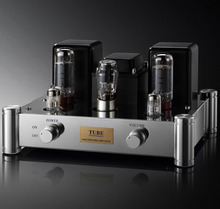 Single End Stereo EL34 Tube Amplifier Class A Hifi Audio Vintage Integrated Power AMP Hand Made Chassis Mount 12W AC115V 230V(China)