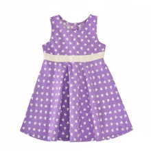 Summer Baby Girls Dress Casual Heart Pattern Kids Princess Dress With Belt Purple Sleeveless Vest Dress Girl Clothes Outfits(China)