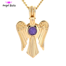 Angel Bola Jewelry Yoga Aromatherapy Essential Oils Surgical Perfume Diffuser Locket Necklace Drop Shipping L173