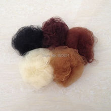 100pcs Five Colors Nylon Hairnets Fit All Kinds Of Human Hair Or Wig Black Beige Brown Hair Nets Elastic Lines(China)