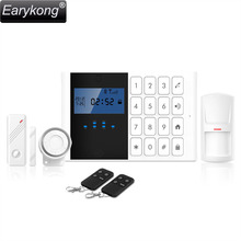 Free Shipping! Wireless GSM SMS Home Alarm System 99 Defense Zones Long Distance Control For House New Door / Motion Detector(China)